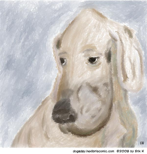 hound in the impressionist style