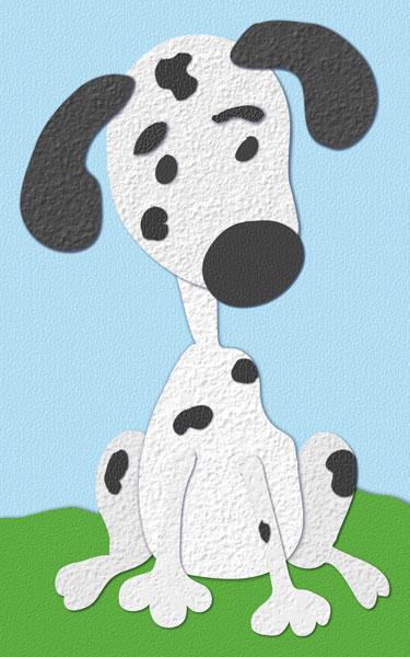 Paper cutout dalmatian