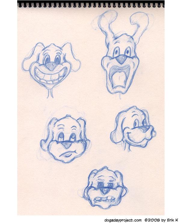 dog a day sketchbook animation emotion sketches