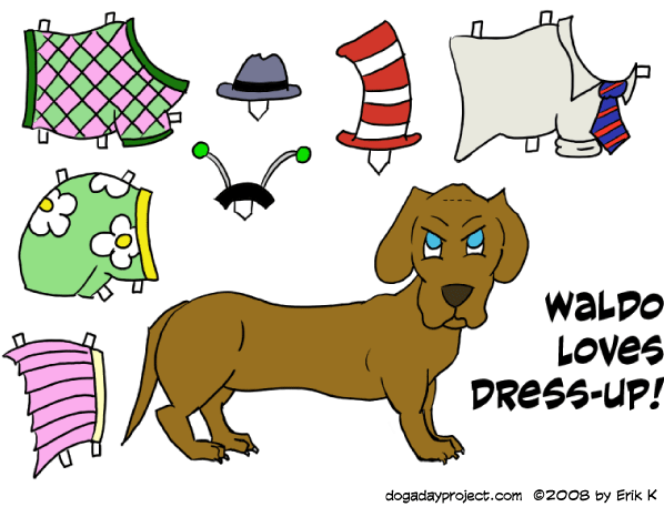 dog a day paper doll