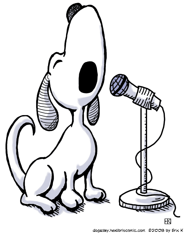 dog a day singing dog image