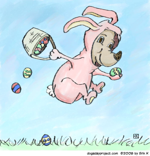 dog a day easter bunny substitute dog image