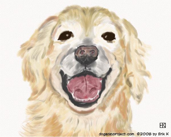 "dog a day ""smiler"" image"