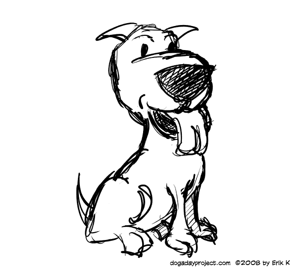 dog a day 3-minute drawing image