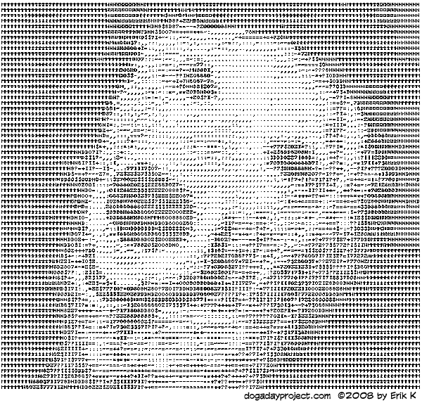 dog a day ASCII dog image