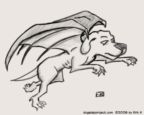 dog a day bat dog image