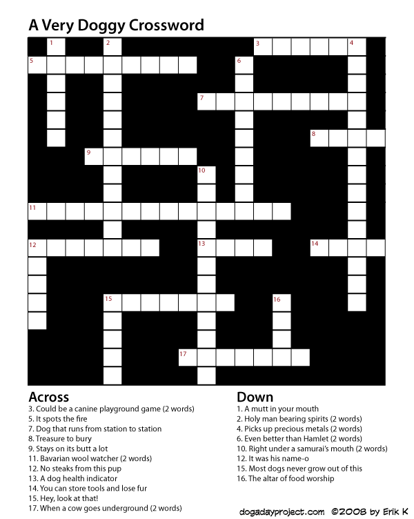dog a day crossword image