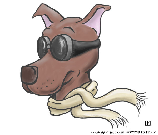 dog a day Goggle Dog image