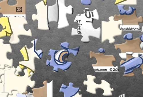 dog a day Jigsaw Dog image