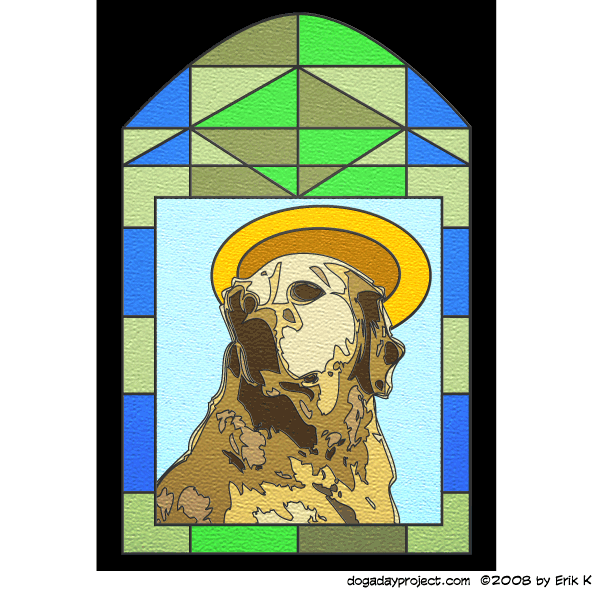 dog a day Stained Glass Storm Dog image