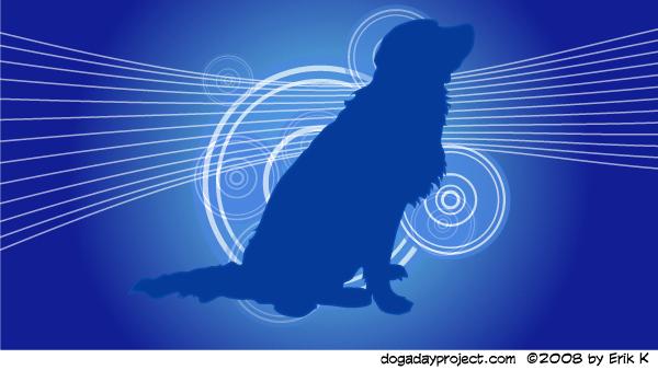 dog a day Retro Graphic Dog image