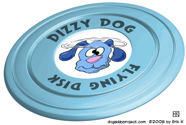 dog a day Dizzy Dog Flying Disk image