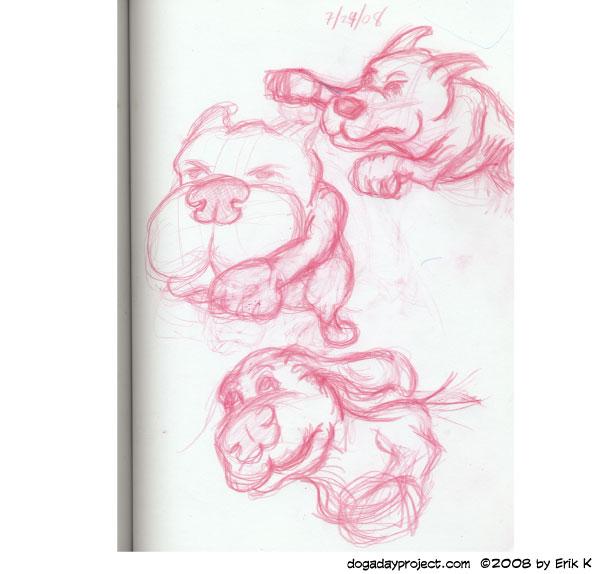 dog a day Sketchbook Dogs image
