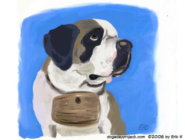 dog a day Artrage St. Bernard image