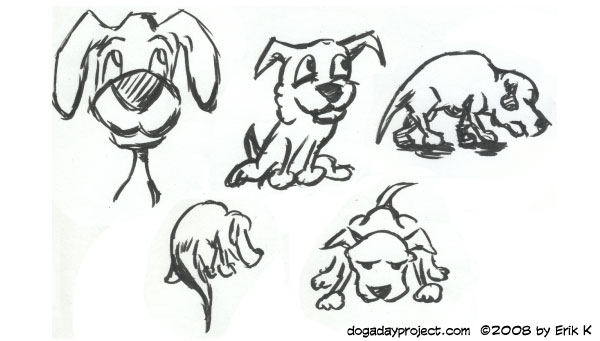 dog a day Three-Minute Brush Pen Dogs image