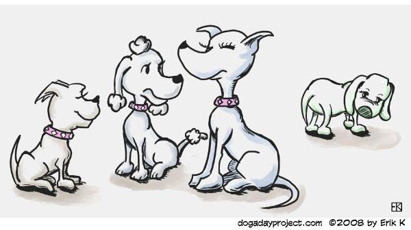 dog a day Clique image
