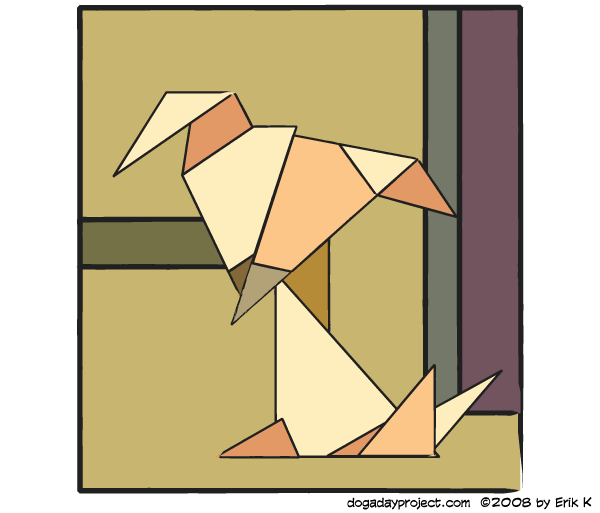 dog a day Modern Geometry dog