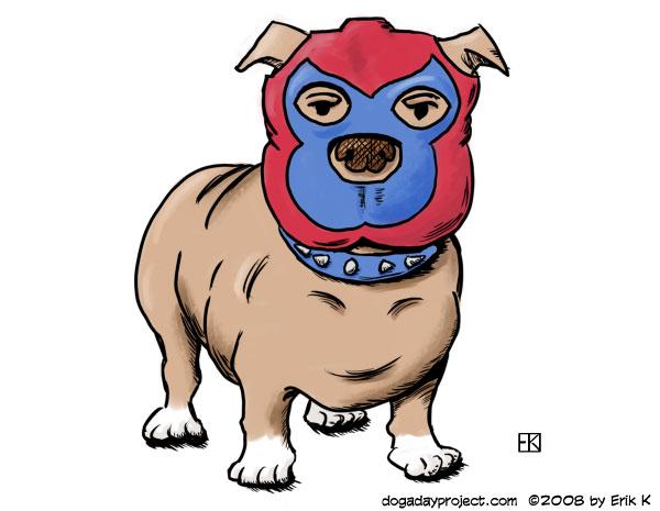 dog a day Luchadog image