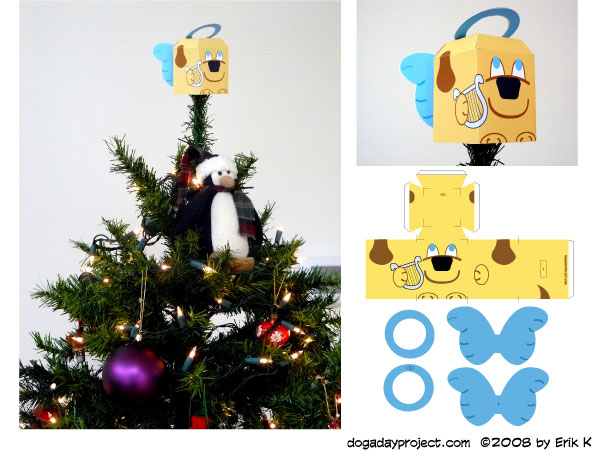 dog a day Tree-Topper Dog image