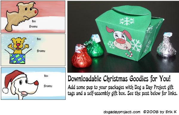 dog a day Dog (Christmas) Tags and Boxes image