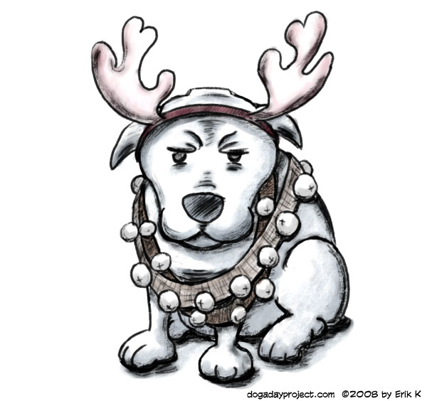 dog a day Reindeer Costume image
