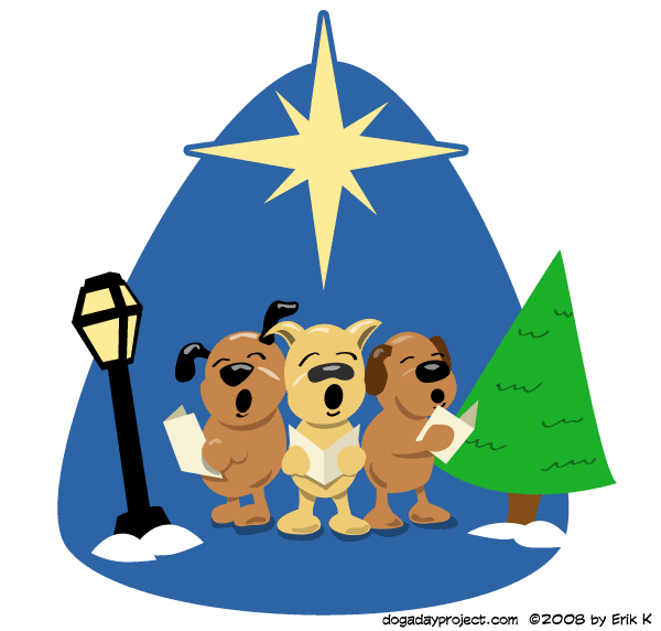 dog a day Howling Carolers image