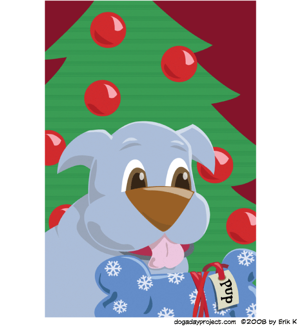 dog a day Merry Christmas Dog image