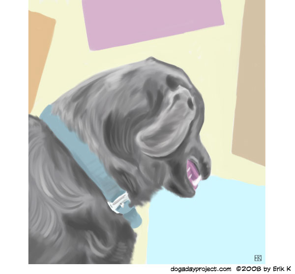 dog a day Gouache Geometry Dog image
