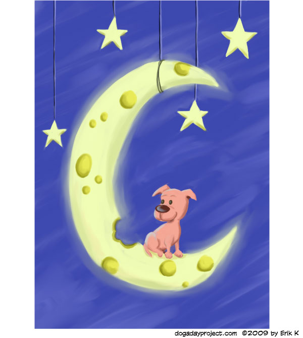 dog a day Over the Moon Dog image