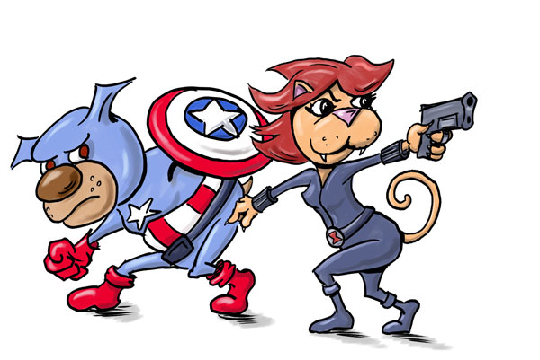 A Dog a Day » Archive » Captain America!